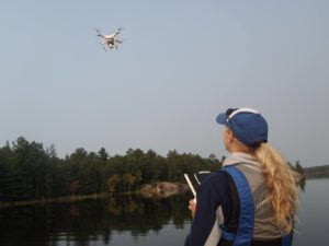 Environmental research and monitoring supported by aerial photography.
